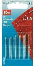 Prym Hand Sewing Needles Sharps Size No. 5-9 Assorted Pack of 20 (121295)
